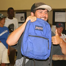 backpacks-homeless engagement lift partnership