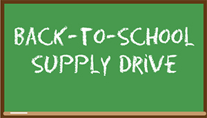 back to school supply drive--homeless engagement lift partnership